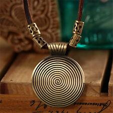 Fashion Round Jewelry Chain Pendant Golden Choker Chunky Statement Bib Necklace