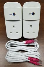 More details for 2 x bt mini connector 1gb 1000mbps powerline adapters homeplugs + 2 x ethernet!