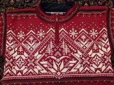 Reduced!  Dale of Norway Wool Ski Sweater  XS Men's/ Medium Women's Red Unisex