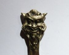 Antique Victorian Satyr, Satan, Devil's Head Brass Letter Opener, Very Rare!