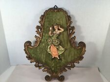 Vintage  Depose Italy Resin Figure & Frame Wall Hanging, Spider Mark Fontanini