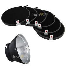 "7"" Reflector Lamp Shade + 6x Honeycomb Grid for Elinchrom Studio Flash Monolight"