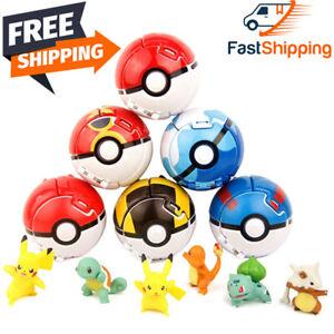 Elf Ball Pikachu Pokeball Pocket Monster Cosplay Variant Toy Action Figure Model