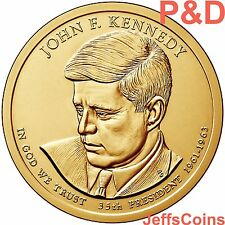 2015 P&D John F Kennedy Presidential Golden Dollar U.S. MINT Roll 2 Coin Set JFK