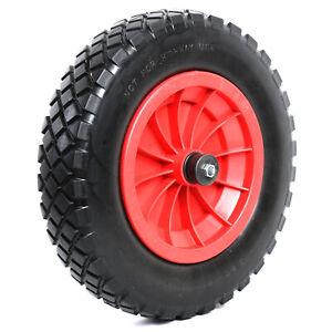 "Woodside 14"" Solid Tyre, Replacement Wheelbarrow/Trolley Wheel, Puncture Proof"