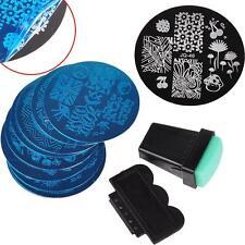10 Pcs Nail Art Stamping Plates + 1 Stamper + 1 Scraper