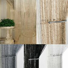 String Door Curtain Beads Room Divider Crystal Tassel Fringe Beaded Window Panel