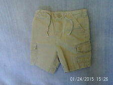 Baby Boys 12-18 Months - Light Brown Linen Mix Cargo Shorts - Cherokee