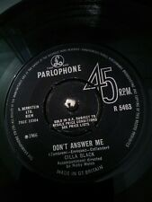 """Cilla Black - Don't Answer Me / The Right One Is Left 7"""" Vinyl Parlophone R 5463"""