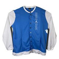 Nike Air Jordan Jumpman Varsity Jacket North Carolina Tarheals Blue Mens XL