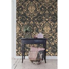 Klassischer Luxus altmodisches Ornament Tapete aus Vlies goldene und graue
