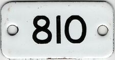 Old English small enamel house number 810 door gate plate fence plaque sign