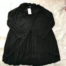 Papillon Womens Size Medium Black Open Front Draped Cardigan NWT