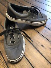 Vans Grey & Black Canvas Skate Shoes- Mens Size 6, Women's Size 7.5