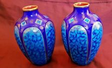 Pair of French Sarraguemines Ovoid  Vases -Circa Early 20th century pattern 2791