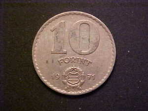 1971 Hungary 10 Forint KM# 595- Nice High Grade Circ Collector Coin! -d4655xhc