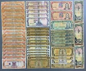 Dominican Republic 2343 PESO. 17 x 100, 5 x 50, 16 x 20, 6 x 10, 2 x 5, 3x 1 DOP