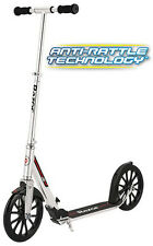 Razor A6 Adjustable Handlebar Tall Kids Adult Folding Kick Scooter Silver NEW