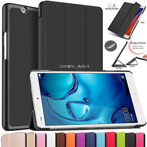 Smart Magnetic Leather Stand Case Cover Book For Tab Huawei MediaPad M3 8.4''