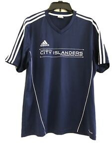 Adidas Harrisburg City Islanders Professional Soccer Jersey Men's Blue- Large