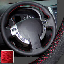 Leather Steering Wheel Cover Wrap for Nissan Sentra 07-12 X-Trail ST Rogue 08-13