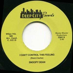 SNOOPY DEAN I CANT CONTROL THIS FEELING Soul Northern Motown