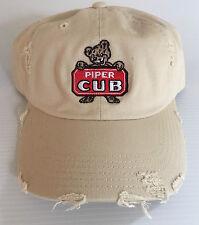 Distressed PIPER CUB  cap FREE SHIPPING