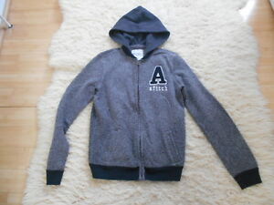 Abercrombie & Fitch Grey Front Zip Hoodie - 15/16