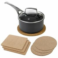 3pc Natural Cork Pot Pan Heat Resistant Coasters Pads Kitchen Surface Protection
