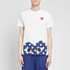Comme Des Garcons PLAY polka dot hem heart tee - size m