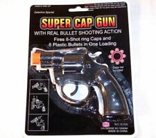 Super 8 Shot Cap Guns toy gun play toys pretend cops super black 38 special new