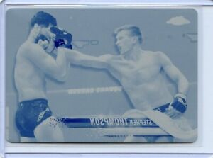 2018 Topps UFC Chrome STEPHEN THOMPSON Cyan Printing Plate Card No 54 #1/1