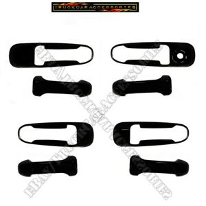 For DODGE Ram 1500 2500 3500 2002-2007 2008 BLACK 4 Door Handle Covers w/out PK