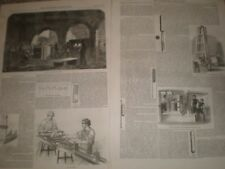 Minie Rifle and War Rocket manufacture 1855 prints and articles ref AV