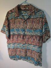 New listing 1950's Brent Vintage Men's Rayon Shirt Tiki Tropical Hawaiian Style