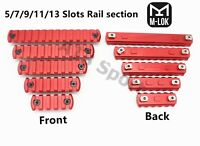 5/7/9/11/13 slot M-lok Rail Sections Picatinny/Weaver Segment Aluminum Red color