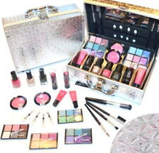 Kosmetik Make-up ALU Koffer gemustert Cosmelux Schminkkoffer 42 teilig (e41)