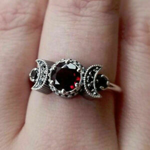 Fashion Jewelry Ruby 925 Silver Rings Women Gifts Wedding Band Rings Sz 5-11