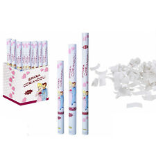 Set 3 sparacoriandoli bianchi da 30 cm per matrimonio