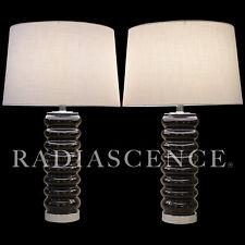 BLACK CERAMIC POTTERY ATOMIC MODERN PAUL HANSON TABLE LAMP ROBERT SONNEMAN 1960s