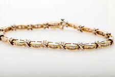 Estate $6000 3ct Baguette Diamond 14k Yellow Gold Tennis Bracelet HEAVY