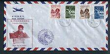N.N.Guinea, FDC Voorloper 1957, kinderzegels; ds HOLLANDIA 1, bs violet