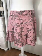 Diesel Womens Pink - Grey Floral Print Pleated Skirt Size 12 Waist 32