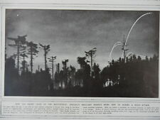 1916 ENEMY ROCKETS DURING NIGHT ATTACK STAR SHELLS FLARES WWI WW1