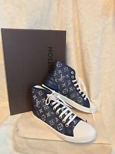 NIB RARE Louis Vuitton DENIM HI-TOP SNEAKERS TENNIS Shoes, 36, US 6, 6.5, 7