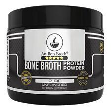 Pure 4oz Genuine Grass Fed Organic Bone Broth Protein Powder Collagen 4oz. Pure/