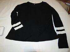 Charlotte Russe M medium juniors womens long sleeve t shirt black pre owned