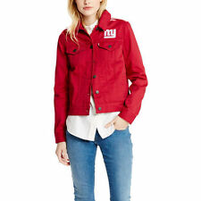 Levi's New York Giants Red Twill Trucker Jacket Edition Limité XS