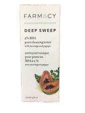 Farmacy Deep Sweep 2% Bha Pore Cleaning Toner full-size 4oz New in Box Nib