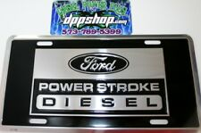 ford powerstroke diesel truck emblem license plate tag power stroke sign logo ps